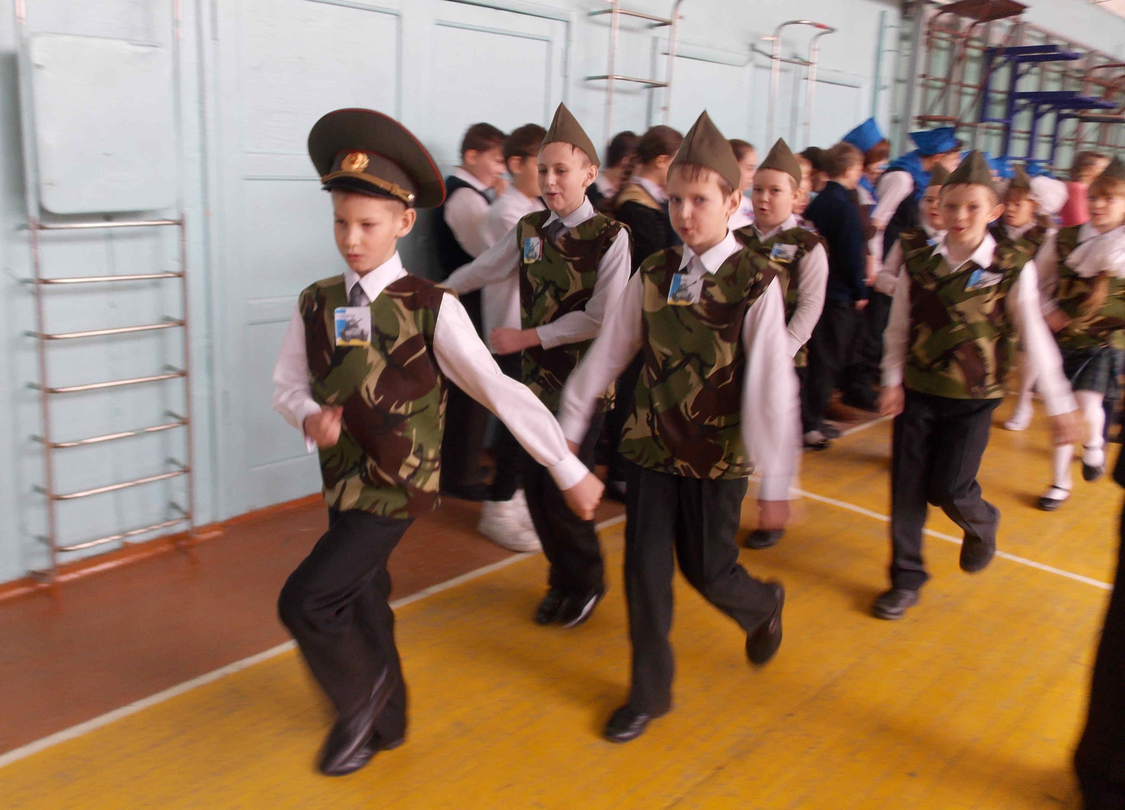 На день защитника отечества мы были первыми!!!